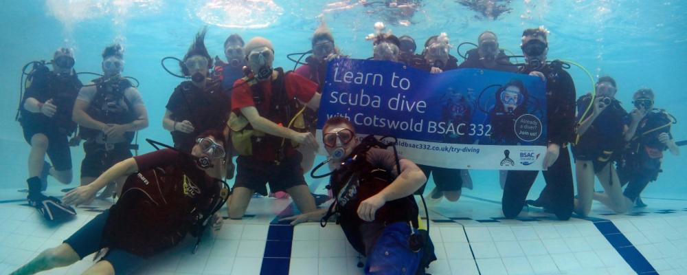 Club members in the pool